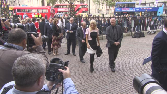 gaby roslin at a service of thanksgiving for the life and work of sir terry wogan at westminster abbey on september 27 2016 in london england - mark wogan stock videos and b-roll footage