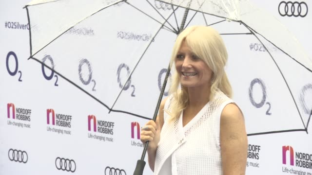 gaby roslin at nordoff robbins o2 silver clef awards at grosvenor house, on july 01, 2016 in london, england. - gaby roslin stock videos & royalty-free footage