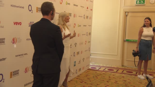 gaby roslin at silver clef awards on july 03, 2015 in london, england. - gaby roslin stock videos & royalty-free footage
