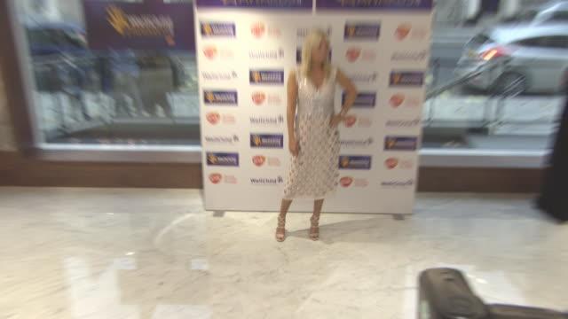 gaby roslin at wellchild awards at royal lancaster hotel on october 16, 2017 in london, england. - gaby roslin stock videos & royalty-free footage