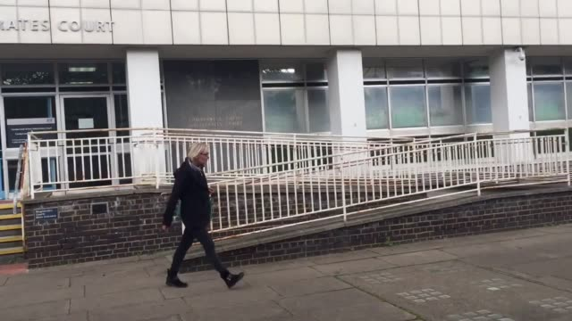 Gaby Stieger leaves Camberwell Green Magistrates' Court after being given a restraining order for stalking actor Eddie Redmayne The German translator...