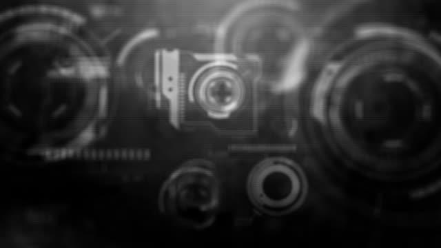 ui gadget loop - grey (hd 1080) - grayscale stock videos and b-roll footage