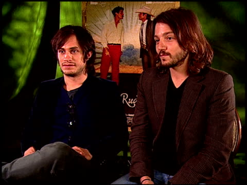 Gael Garc_a Bernal and Diego Luna on Gael's singing in the movie at the 'Rudo y Cursi' Junket at Los Angeles CA