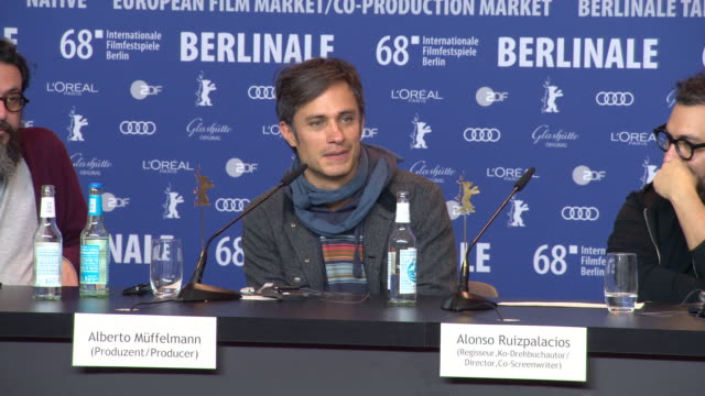 INTERVIEW Gael García Bernal feeling fortunate to be at the festival rehearsing a new play in Berlin at 68th Berlin Film Festival 'Museo' Press...