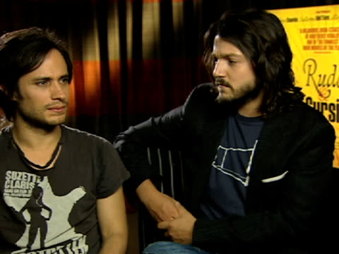 Gael Garcia Bernal and Diego Luna on helping each other out with each other's characters at the Rudo and Cursi Interviews at London England