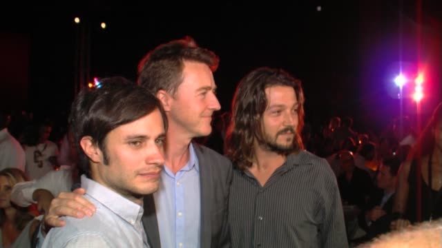 Gael Garcia Bernal Edward Norton and Diego Luna at Edward Norton honored at the Baja International Film Festival on 11/17/12 in Cabo San Lucas Mexico