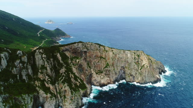 gageodo island cliff scenery / sinan-gun, jeollanam-do, south korea - 岩肌点の映像素材/bロール