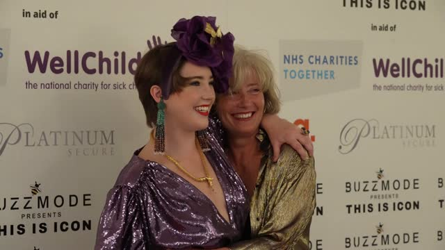 gaia wise, emma thompson attends the icon ball 2021 during london fashion week september 2021 at the landmark hotel on september 17, 2021 in london,... - hd format stock videos & royalty-free footage