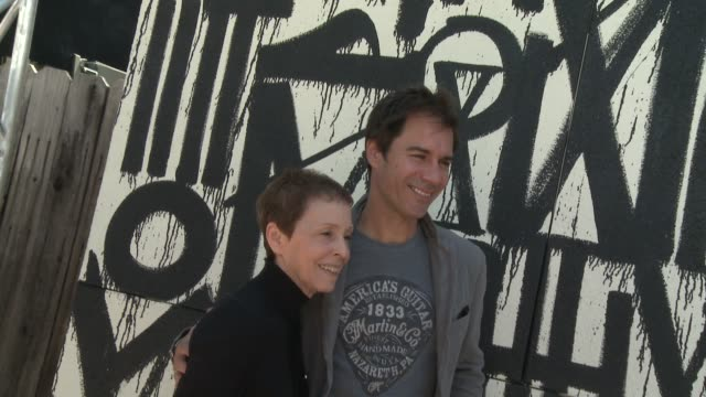 gail abarbanel and eric mccormack at the john varvatos 12th annual stuart house benefit with honorary chair chris pine hosted by chrysler on april... - eric mccormack stock videos & royalty-free footage