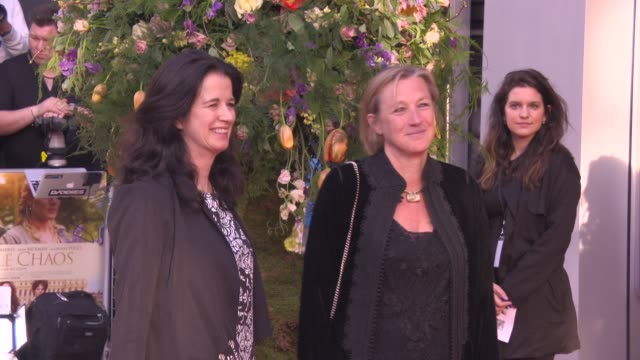 broll gail egan andrea calderwood at 'a little chaos' premiere at odeon kensington on april 13 2015 in london england - odeon cinemas stock videos & royalty-free footage