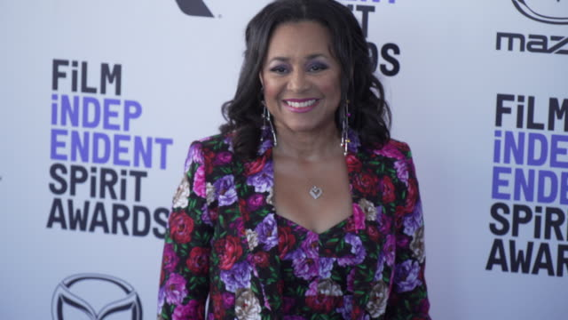 gail gibson at the 2020 film independent spirit awards on february 08 2020 in santa monica california - film independent spirit awards stock videos & royalty-free footage