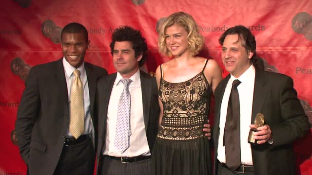 gaius charles jeff reiner adrianne palicki and jason ketims at the 66th annual peabody awards press room at waldorf astoria in new york new york on... - adrianne palicki stock videos and b-roll footage