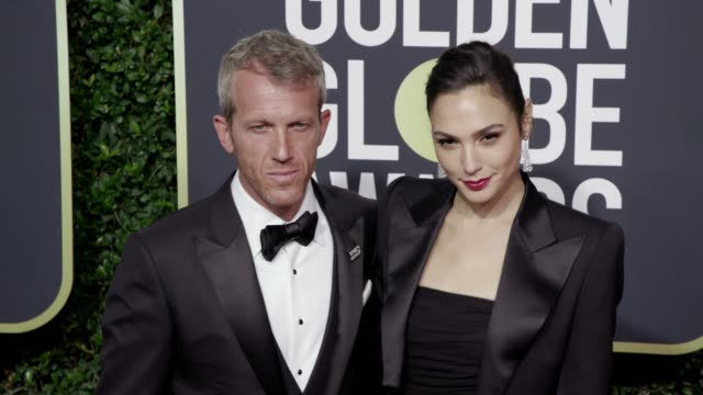 Gal Gadot and Yaron Versano at the 75th Annual Golden Globe Awards at The Beverly Hilton Hotel on January 07 2018 in Beverly Hills California