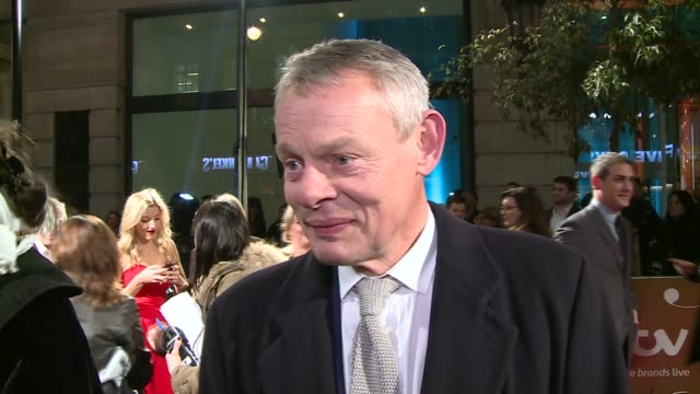 gala 2015 / red carpet; gvs martin clunes / julian fellowes / martin clunes interview sot / chris kamara / davina mccall interview sot - julian fellowes stock videos & royalty-free footage