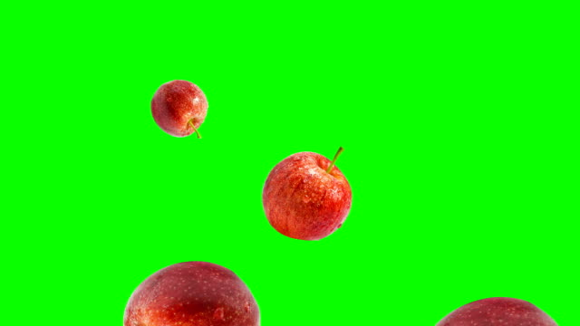 gala apple falling - apple fruit stock videos and b-roll footage