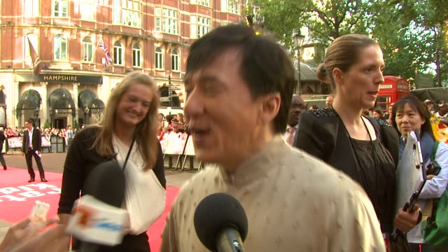 gala premiere at london england. - jackie chan stock videos & royalty-free footage