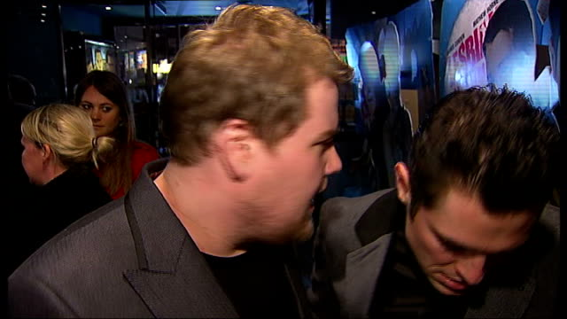 Gala screening of new film 'Lesbian Vampire Killers' Arrivals and interviews James Corden and Mathew Horne interview SOT
