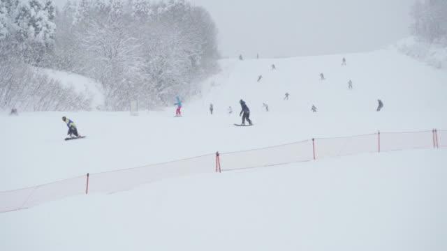 gala yuzawa ski resort, niigata, japan - スキー板点の映像素材/bロール