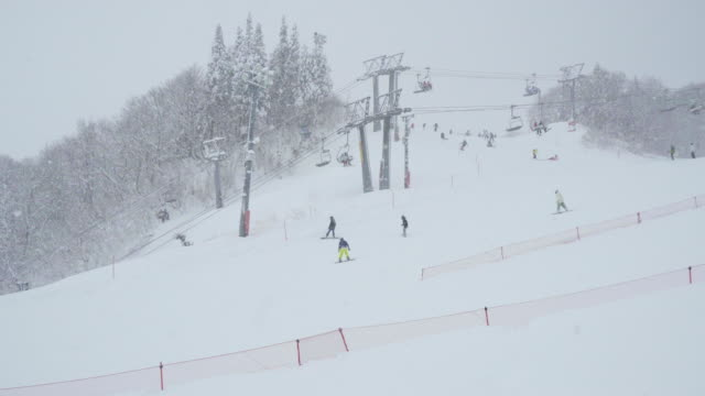 gala yuzawa ski resort, niigata, japan - ski resort stock videos & royalty-free footage