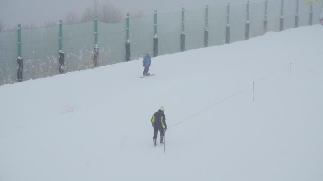 gala yuzawa ski resort, niigata, japan - 秋田県点の映像素材/bロール
