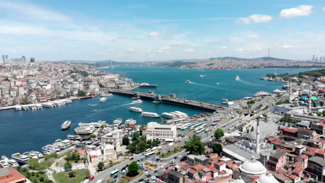 galata bridge in istanbul - bosphorus stock videos & royalty-free footage