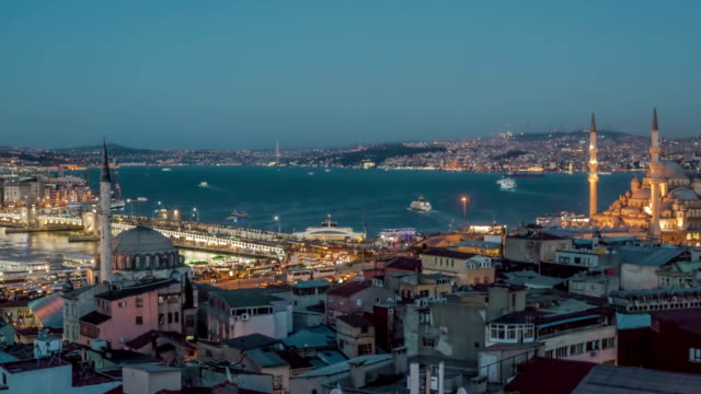 galata bridge timelapse - yeni cami mosque stock videos and b-roll footage