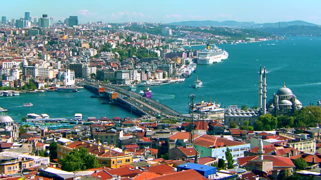 galata bridge - golden horn istanbul stock videos and b-roll footage