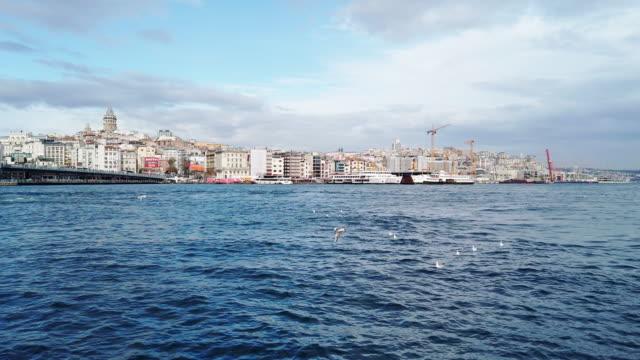 加拉塔和哈利克橋,伊斯坦布爾 - 10秒或更長 個影片檔及 b 捲影像