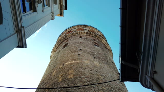 galata tower in istanbul, turkey - tower stock videos & royalty-free footage