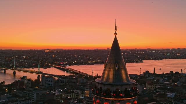 galata tower, istanbul - galataturm stock-videos und b-roll-filmmaterial