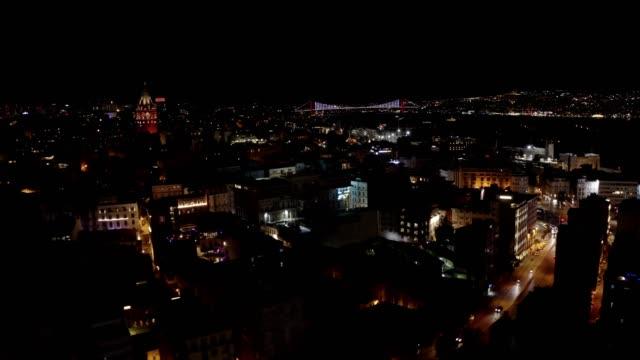 ガラタタワー - イスタンブール 金角湾点の映像素材/bロール