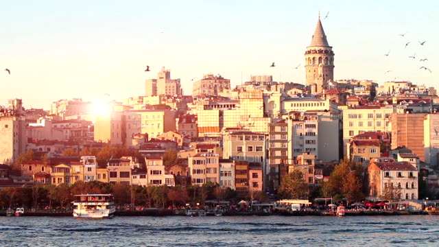 hd: galata tower - turkey stock videos and b-roll footage