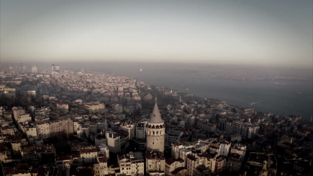 galata tower - golden horn istanbul stock videos and b-roll footage