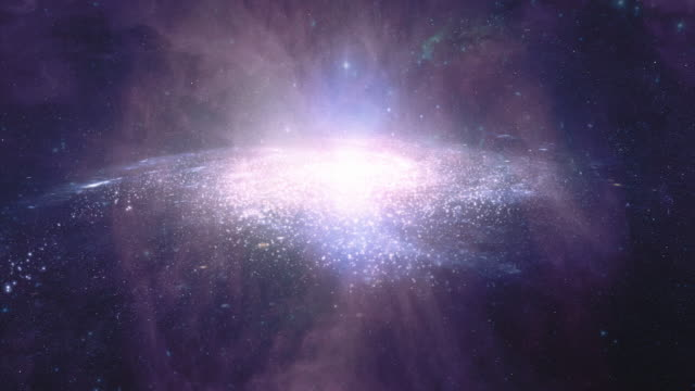 Galaxy A. Animated sci-fi or scientific background video. HD.