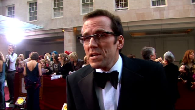 galaxy british book awards 2009 ben miller interview sot on why it's important that it's voted for by the public books he's read kelly brook on... - kelly brook stock-videos und b-roll-filmmaterial