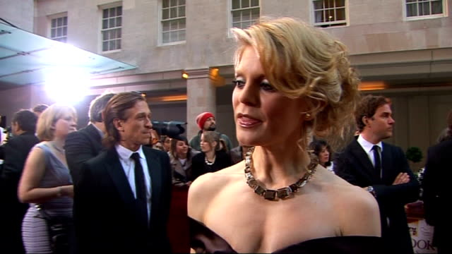 galaxy british book awards 2009; emilia fox interview sot - on the event - celebs writing books - whether her autobiography is on the way... back... - autobiography stock videos & royalty-free footage