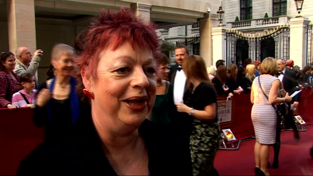 galaxy british book awards 2009; jo brand interview sot - on the event and barack obama - on writing her own book - on wishing people would read more... - swimming costume stock videos & royalty-free footage