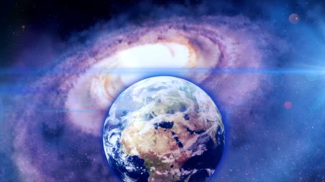 galaxy terra globo digitale - human face video stock e b–roll