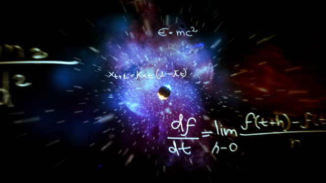 galaxy equations - e=mc2 stock-videos und b-roll-filmmaterial