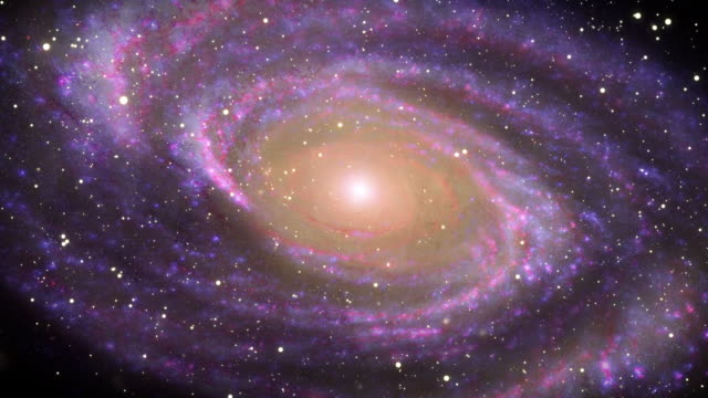 galaxy in deep space - spiral stock videos and b-roll footage