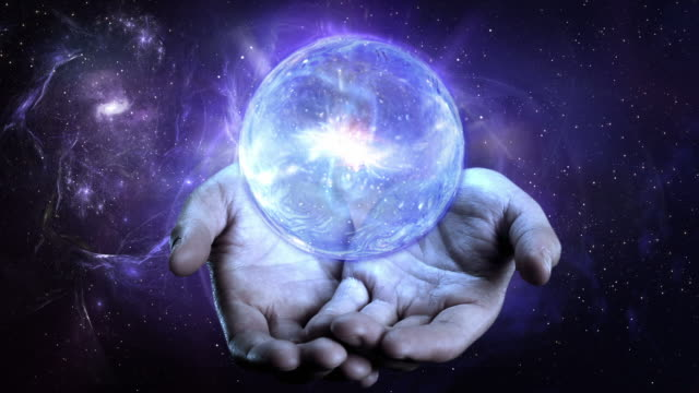 galaxy in hands. - 無重力点の映像素材/bロール