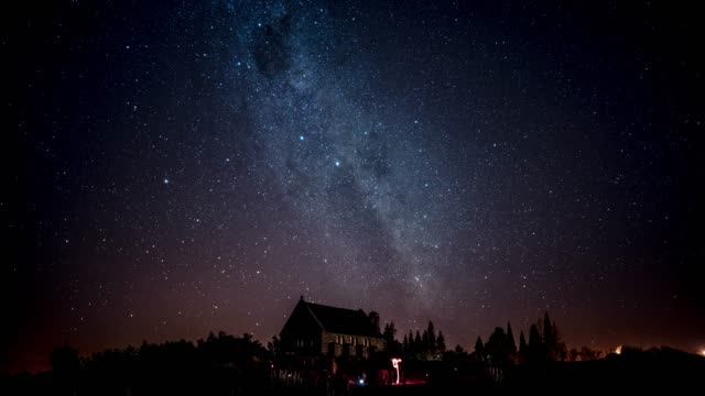 galaxy over church - star field stock videos & royalty-free footage