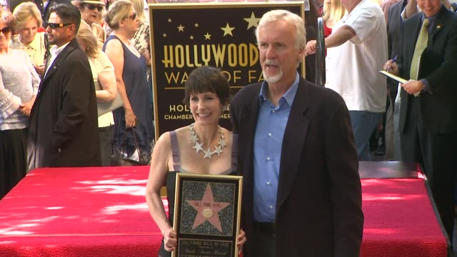 gale anne hurd and james cameron at gale anne hurd honored with star on the hollywood walk of fame on 10/3/12 in hollywood, ca. - james cameron stock videos & royalty-free footage