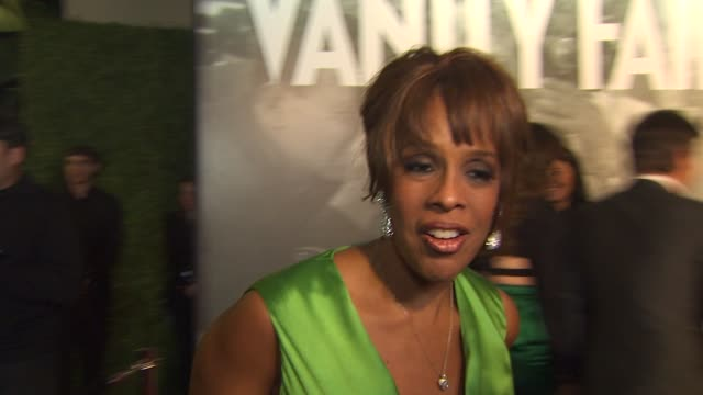gale king on the vanity fair oscar party at the 2011 vanity fair oscar party arrivals at hollywood ca - gayle king stock videos & royalty-free footage
