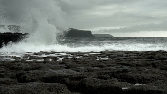 SLO MO Gale Waves At Doolin Coast And Cliffs Of Moher
