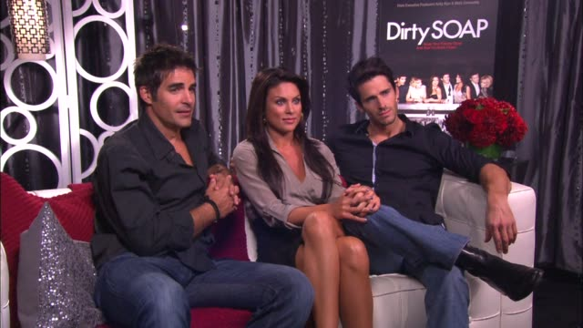 galen gering nadia bjorlin and brandon beemer on if spouses needed convincing on doing the show - nadia bjorlin stock videos & royalty-free footage