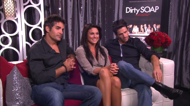 Galen Gering Nadia Bjorlin and Brandon Beemer on if the experience of making the show has been fun or with challenges
