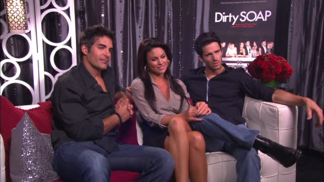 galen gering nadia bjorlin and brandon beemer on if their have been any embarrassing moments on the show - nadia bjorlin stock videos & royalty-free footage