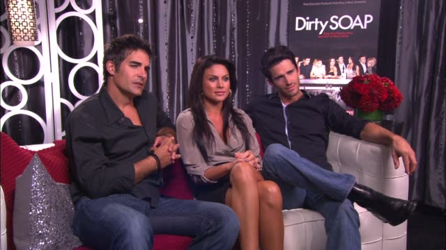 galen gering nadia bjorlin and brandon beemer on if their is anything said or done on the show that they can stop from being shown - nadia bjorlin stock videos & royalty-free footage