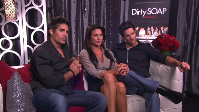 galen gering nadia bjorlin and brandon beemer on why this show is different from other reality shows - nadia bjorlin stock videos & royalty-free footage